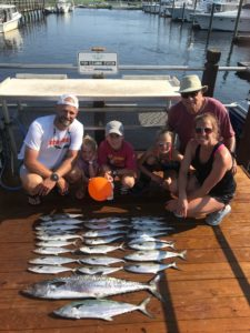 This family raked in the fish on their Oak Island fishing trip